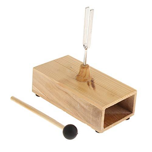 Stimmgabel 440 Hz, Stimmgabel-Tuner mit Holz Resonanzkasten und Hammer, Musikalischer...