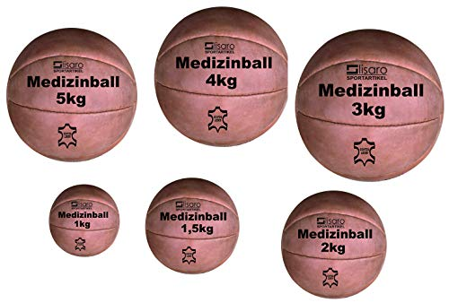 Lisaro Medizin-Ball aus Echt-Leder (1-KG)