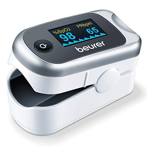 Beurer PO 40 Pulsoximeter, Messung von Sauerstoffsättigung (SpO₂), Herzfrequenz (Puls) und...