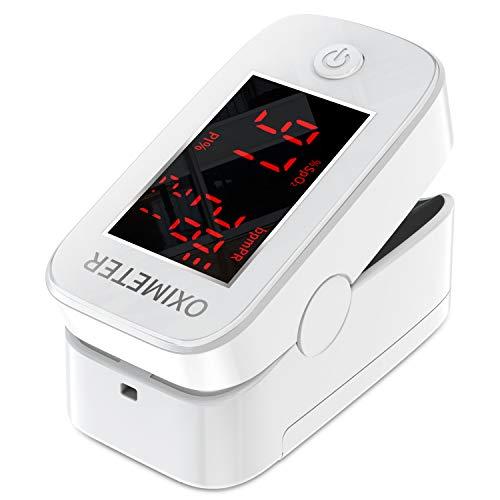 Pulsoximeter, Fingeroximeter, Fingerpulsoximeter mit LED-Anzeige, Herzfrequenzmesser für Heim und...