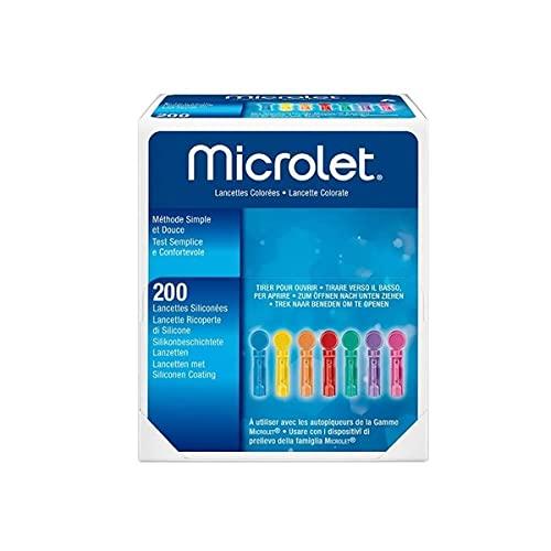 Microlet 200 Lancetas Color