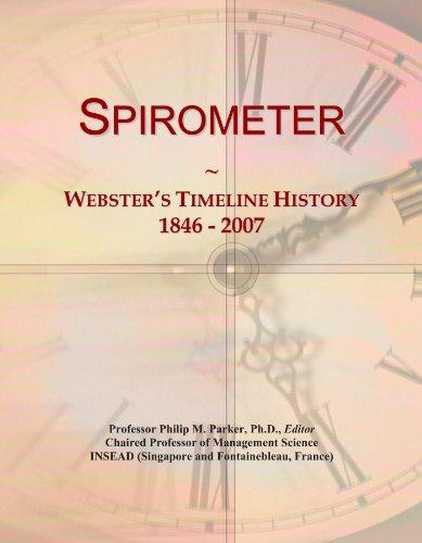 Spirometer: Webster's Timeline History, 1846 - 2007