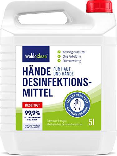 Desinfektionsmittel 5l Hände & Haut mit Rückfetter - ohne Parfüm und Farbstoffe