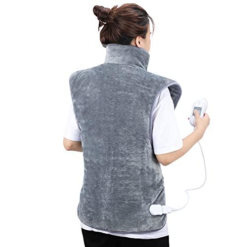 Heizkissen für Rücken Nacken und Schultern, 23'x39' Elektrisches Wärmekissen mit 3 Heizstufen und...