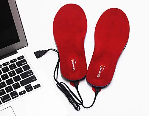 Dr.Warm Beheizbare Einlegesohlen Thermosohlen mit Intelligentem Drahtlose Fernbedienung, USB...