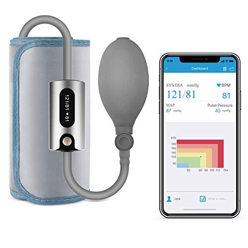 Wellue AirBP Plus Blutdruckmessgerät Oberarm Bluetooth, tragbare drahtlose Blutdruckmessgeräte...