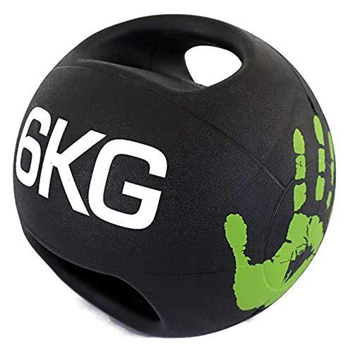 Medizinball Binaural Medicine Ball Gummi Gummi Elastische Kugel, Haus Fitness Fitnessstudio Body...