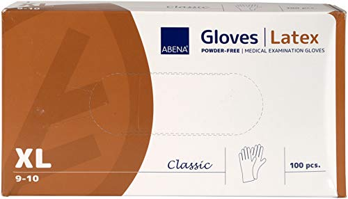 Abena Latexhandschuhe (puderfrei) Größe XL 100 Stück