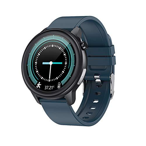 YDK E80 Smart Watch Herren- Und Damen-PPG + EKG IP68 wasserdichte Atemfrequenz Fitness Tracker...