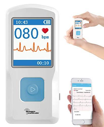 newgen medicals EKG Gerät: Mobiles medizinisches EKG-Messgerät mit PC-Software und App (Mobile EKG...