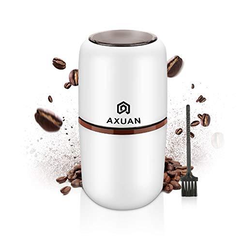 Elektrische Kaffeemühle, AXUAN Kaffeebohnenmühle Elektrisch, Bohnen, Nüsse und Körner Mühle mit...