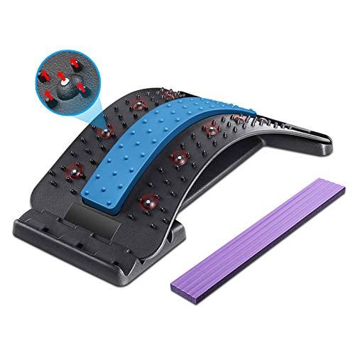 Dyroe Rückenstrecker Rückenmassage Unterstützung Einstellbar Rückendehner mit Magnetischen...