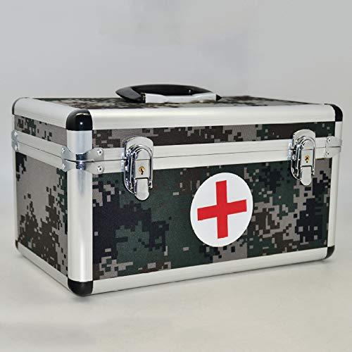QXTT Alu Medizinkoffer Erste Hilfe Koffer Tragegriff Hausapotheke Box Groß Medikamentenbox...