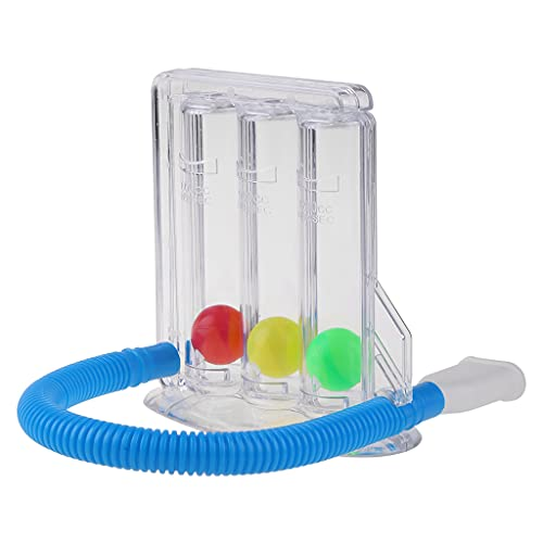 DUESI 3-Ball Tiefenatmungsgerät Kapazität Trainingsgerät Anreiz Spirometer Spirometrie...