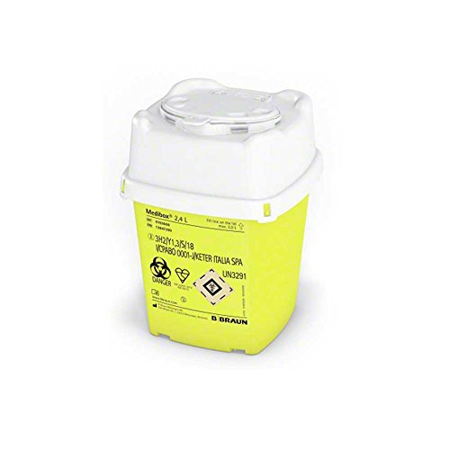 B.Braun Medibox® Entsorgungsbehälter Sammelbehälter Kanülenbehälter Kanülenbox, 2,4 Liter