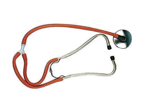 Hauptner 01220000 Stethoskop mit Silikonschlauch Membrane 65 mm Durchmesser, rot