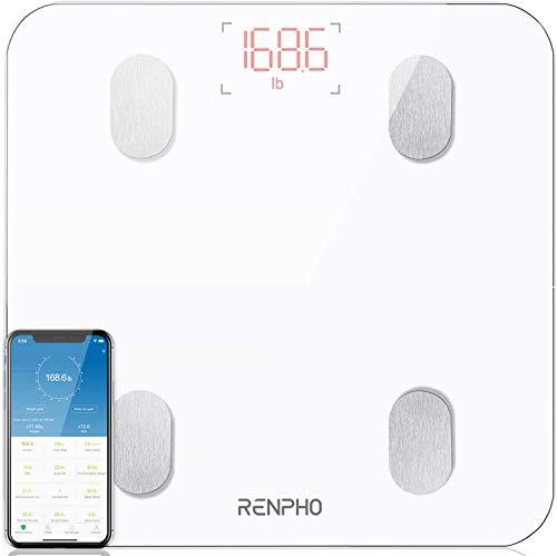 RENPHO Körperfettwaage, Bluetooth Personenwaage mit App, Smart Digitale Waage für Körperfett,...