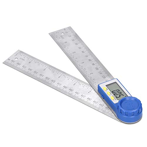 Digitaler Winkelmesser, Edelstahlmaterial 360 Grad Praktisches digitales Goniometer mit...