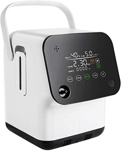 Tragbarer Sauerstoffkonzentrator-Generator, intelligenter Sprach-Voll-Touchscreen 1-7 l/min...