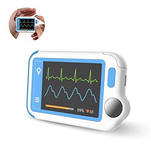 EKG-Gerät, Tracker für Herzgesundheit zur Erkennung von Vorhofflimmern in Plam, EKG-Monitor mit...