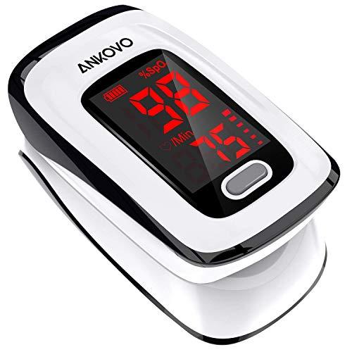 Pulsoximeter, Sauerstoffsättigung Messgerät Finger, Herzfrequenzmesser und SpO2-Stufen, Tragbares...