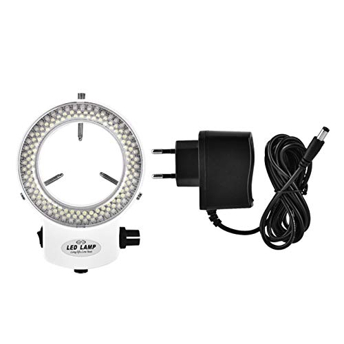 Raguso 144 LED-Mikroskop-Ringlicht-Beleuchtung Mikroskop-Kamera-Lichtquelle Helligkeit Einstellbare...