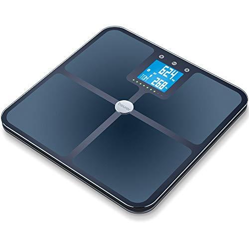 Beurer BF 950 Black Diagnosewaage, Messung von Körperfett, Körperwasser, Muskelanteil und...