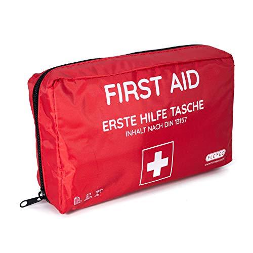 Erste-Hilfe-Tasche für Betriebe, Zuhause und Unterwegs   Inhalt nach DIN 13157   rot  ...