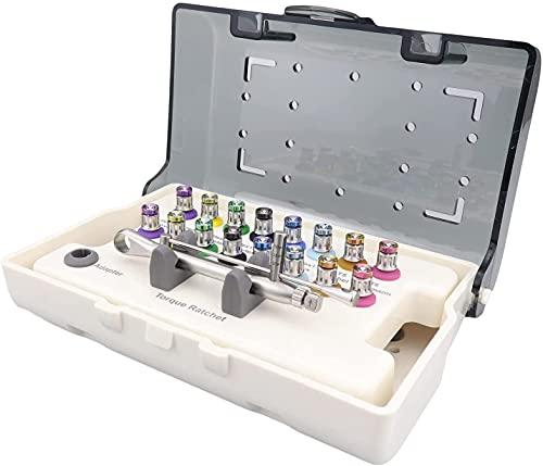 KUUY Universal-Implantat-Reparatur-Werkzeugsatz mit 16 Stück Schraubendrehern Buntes Prothesen-Set...