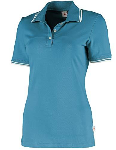 Whitewear Damen Polo-Shirt Piqué Mila Teampolo T-Shirt Praxis Arbeits-Kleidung Gr. XL Hawai Blue