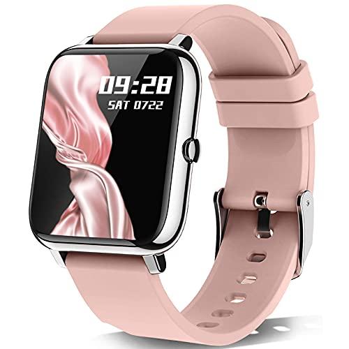 Smartwatch, KALINCO 1.4 Zoll Touch-Farbdisplay mit personalisiertem Bildschirm,Armbanduhr mit...