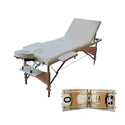 Massageliege Massagetisch Deluxe Professionelle kosmetikliegen Massagebett,3 Zonen tragbaren...