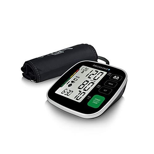 Medisana BU 546 connect Oberarm-Blutdruckmessgerät mit großer Manschette, Arrhythmie-Anzeige,...