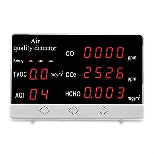 WGHBHD WGHH Luftqualitätsmonitor 5-in-1 Multifunktionale Formaldehyd CO2. Detektormonitor Outdoor...