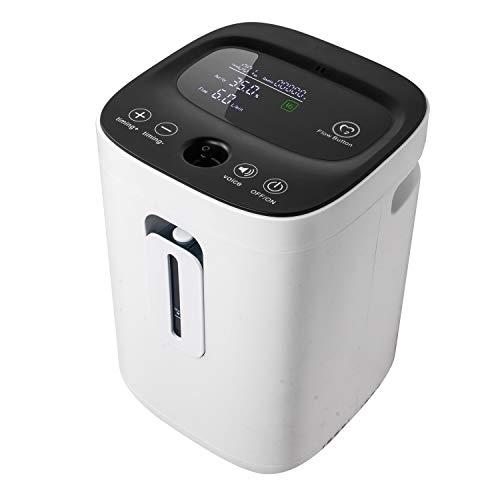 Enshey Sauerstoffkonzentrator, 1-7 L/min Einstellbare Konzentration Tragbare Professionelle...
