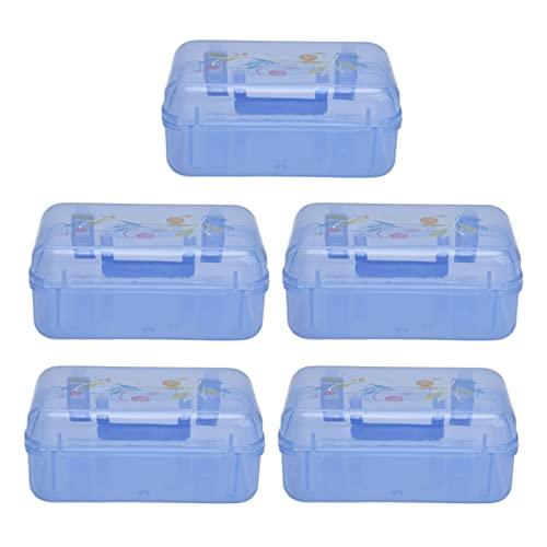 KUIDAMOS Kleines Taschen-Pillenetui, Mini-Kunststoff-Aufbewahrungsbox Mini Compact Niedlich für...