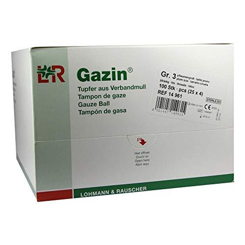 GAZIN Tupfer pflaum.steril 2+2 Schutzr.o.RK 100 St