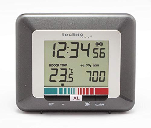 Luftgütemonitor WL 1005, misst Luftqualität, Anzeige der Uhrzeit, Temperatur, Luftgüte,...