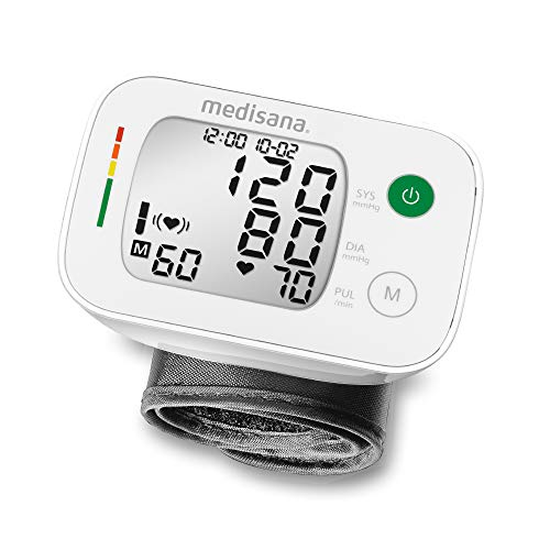 medisana BW 335 Handgelenk-Blutdruckmessgerät, Arrhythmie-Anzeige, WHO-Ampel-Farbskala, für...