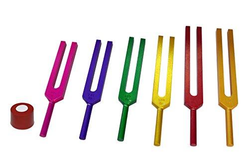 Radical Sacred Solfeggio Stimmgabeln, 6 Stück, farbig, für DNA-Reparatur, Segenswunder und...