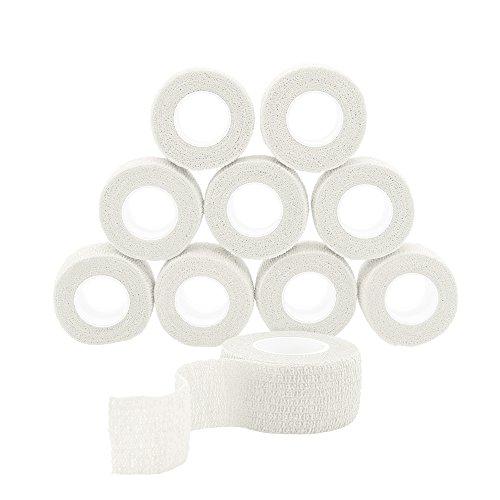 QiGui 10 Rollen Selbsthaftende Cohesive Bandage Haftbandage Verband Fixierverband elastische Binde...