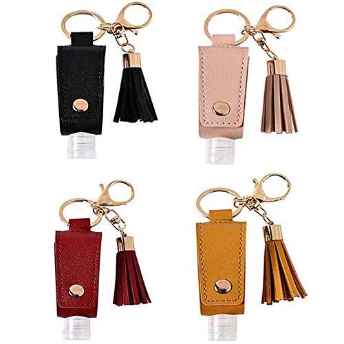 Reise-Flaschen, Schlüsselanhänger, 4-teiliges Set, leere 30 ml, Desinfektionsmittel für die...