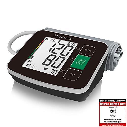 Medisana BU 516 Oberarm-Blutdruckmessgerät schwarz ohne Kabel, Arrhythmie-Anzeige,...