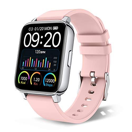 chalvh Smartwatch, 1.69 Zoll Touchscreen Armbanduhr, Fitness Tracker IP67 Wasserdicht Sportuhr, Uhr...
