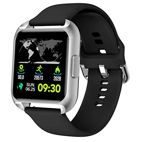 Smartwatch, Fitnessuhr mit Pulsoximeter, Fitness Armbanduhr mit Blutdruck Messgeräte, Pulsuhren...