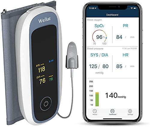 Bluetooth Blutdruckmessgeräte Oberarm mit Blutsauerstoffmonitor, kabellosem Blutdruckmanschette...