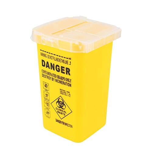 Artibetter Medizinischer Entsorgungsbehälter mit Nadel und sicherem Verschluss (gelb)