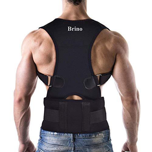 Brino Haltungskorrektor mit atmungsaktiver ultradünner elastischer Bandage für Rücken und...