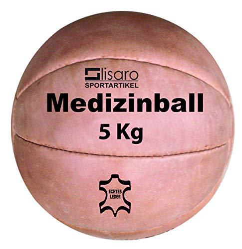 Lisaro Medizinball aus Leder/Functional Fitness Medizinball aus Leder Gr. 5 kg