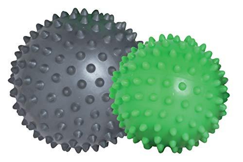 Schildkröt Uni Noppenball Fitness Massagebälle 2er Set, Limegreen-anthrazit
